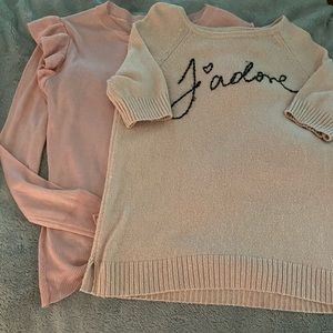 Womens two pack ELLE sweaters in light pink
